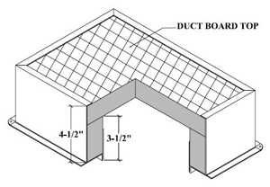 #1288-FL 14X06 DUCT BOARD BOX W/FLG R6 15/CTN