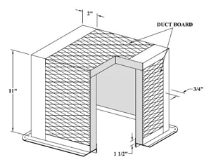 #1292-FL 12X12 DUCT BOARD BOX W/FLG 2