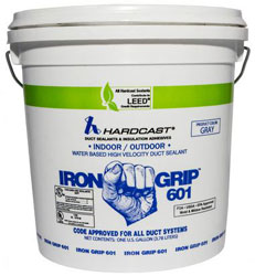IRON-GRIP 601 1 GALLON WATER BASED DUCT SEALANT LEED COMPLIANT 304135 (4/CS) GRAY