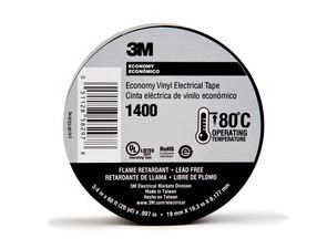 ELECTRICAL TAPE 3M VINYL 1400 3/4 X 60FT 7ML 80-6114-5422-6