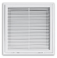 4020FG-2DB 24X24 T-BAR FIXED BLADE STEEL RETURN AIR FILTER GRILLE W/R-6 BACK