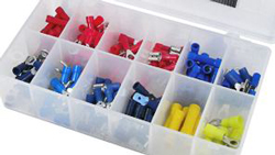SOLDERLESS TERMINAL KIT 20 ASSORTED INSULATED TERMINALS FOR 22-10 WIRE 6202MX