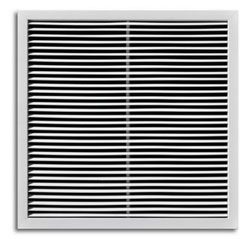 A1210RG-MLD 24X24 T-BAR ALUM BAR TYPE RETURN GRILLE W/R6 BACK