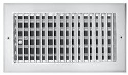 A210VM 10X06 ALUM BAR TYPE SIDEWALL REGISTER (20/CS)