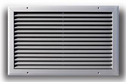 A270 16X16 WHITE ALUMINUM BAR TYPE RETURN AIR GRILLE (10/CS)