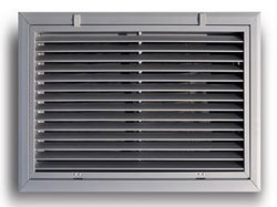 A290 16X16 WHITE ALUMINUM BAR TYPE RETURN FILTER GRILLE