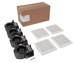Broan AE80F InVent Series 80 CFM 0.8 Sones Finish Pack with White Grille; ENERGY STAR® Certified