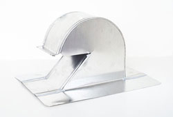 Shingle/Flat Roof Vent 4 Inch Aluminum with Damper ARV-4D