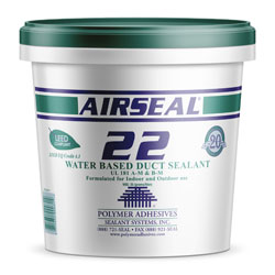 Polymer Adhesives AS22-1 Airseal 22 Water Based Duct Sealant 1 Gallon Gray