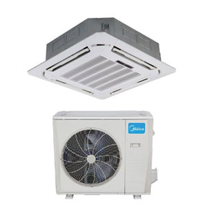 Midea Ductless DLFLCA/DLCLRA Single Zone Light Commercial Advantage Series Cassette System 36,000 Btu/h