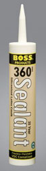 Boss 360 White 35 Year Sealant Siliconized Latex Caulk 10.1 fl. ounce Tube 36001