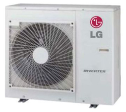 LG LUU127HV Single Zone Ceiling Cassette Outdoor Unit 12,000 Btu/h