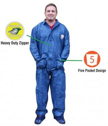 SHUBEE COVERALLS XL C SB CA DB XL 25/CS