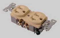 DUPLEX RECEPTACLE 20A - 125V IVORY ED877-I