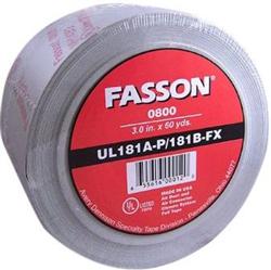 Fasson 0800 2-1/2 Inch UL 181 A-P/B-FX Aluminum Foil Tape
