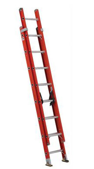 EXTENSION LADDER 16' FIBERGLASS FE3216 TYPE IA, 300lb