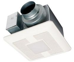 Panasonic FV-0511VQL1 WhisperCeiling DC SmartFlow Ventilation Fan/Light 50-80-110 CFM