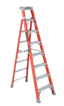CROSS-STEP 08' FIBERGLASS LADDER FXS1508 TYPE IA 300lb RATED