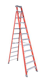 CROSS-STEP 12' FIBERGLASS LADDER FXS1512 TYPE IA 300lb RATED