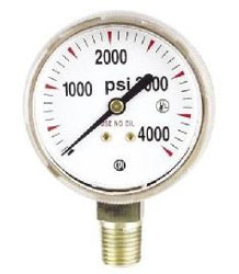 G7SD WELDING NITROGEN/CO2 REPLACEMENT GAUGE 4000 PSI