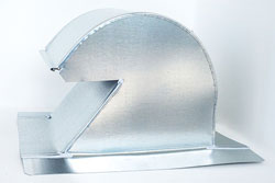 Shingle/Flat Roof Vent 10 Inch Galvanized with Screen GRV-10