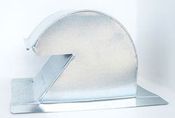 Shingle/Flat Roof Vent 10 Inch Galvanized with Damper GRV-10D