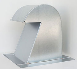 Barrel Tile Roof Vent 10 Inch Galvanized Extra Tall with Screen GRV-10XT