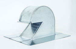 Shingle/Flat Roof Vent 4 Inch Galvanized with Screen GRV-4