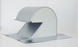 Shingle/Flat Roof Vent 6 Inch Galvanized with Screen GRV-6