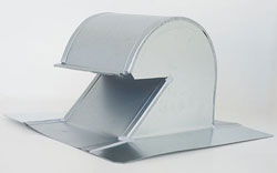 Shingle/Flat Roof Vent 6 Inch Galvanized with Damper GRV-6D