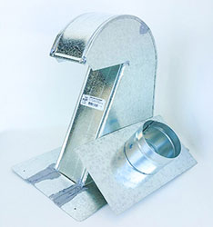 Galvanized Roof Vent GRV4XTCD-DBP 4 Inch Xtra-Tall Profile with 4 Inch Collar and Damper (No Screen)