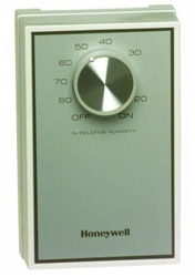 Honeywell H46C1166 24/120/240Vac Wall Mt Dehumidistat White