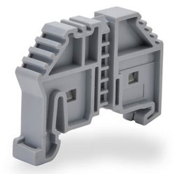 KN-EB4-10 KONNECT-IT END BRACKET, SNAP-ON STYLE, 8MM WIDE. USE ON ANY 35MM DIN RAIL. (10/PK)