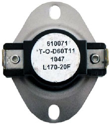 LIMIT SWITCH OPEN 170*F CLOSE 150*F DIFFERENTIAL 40*F L170