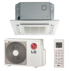 LG LC127HV4 Ceiling Cassette Single Zone System 11,100 Btu/h