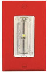 MSR-AV/T/R/C SINGLE GANG AUDIO-VISUAL NOTIFICATION RED PLATE CLEAR LENS
