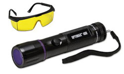 ULTRAVIOLET FLASHLIGHT WITH UVS-40 GLASSES OPX-400CS