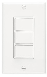 Broan P66W 3-Function Wall Mounted Control. Fits single gang opening
