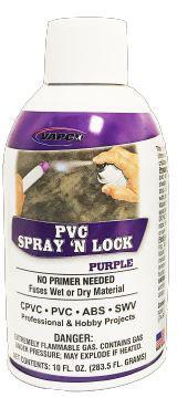 Vapco PVC-SNLP PVC Spray 'N Lock Purple 10 oz. Can