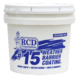 RCD #15 Weather Barrier Coating 1 Gallon Pail