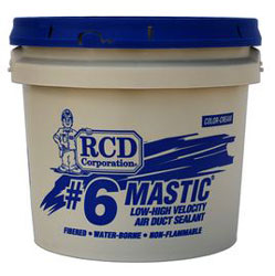 RCD #6 Mastic 1 Gallon Pail Fibered Air Duct Sealant