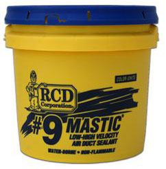 RCD #9 Mastic 1 Gallon Pail Air Duct Sealant