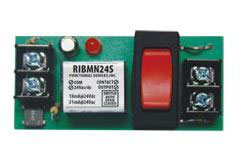 RIBMN24S TRACK MOUNT PILOT RELAY 15 AMP SPST + OVERRIDE W/24 VAC/DC COIL