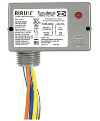 RIBU1C ENCLOSED PILOT RELAY 10 AMP SPDT W/ 10-30 VAC/DC/120 VAC COIL