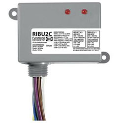 RIBU2C ENCLOSED PILOT RELAY 10 AMP 2 SPDT W/ 10-30 VAC/DC/120 VAC COIL