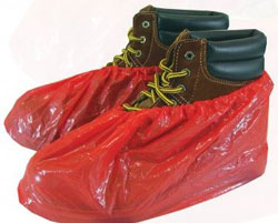 SHOE COVERS WATERPROOF RED BOX OF 40 PAIR C SB SC WP RD