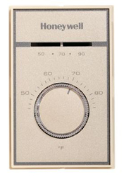 Honeywell T651A3018 Medium Duty Line Voltage Heat-Cool Thermostat