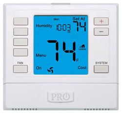 T755H 5/1/1 PROGRAMMABLE 3H/2C HP; 2H/2C COVEN. DIGITAL THERMOSTAT W/HUMIDITY 6 SQ. IN. DISPLAY