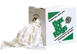 WHITE RAGS 5# BOX PL-205