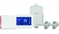 Honeywell YTHX9421R5127WW Prestige 2-Wire IAQ Kit with high definition color touchscreen white front/white sides thermostat with RedLINK technology